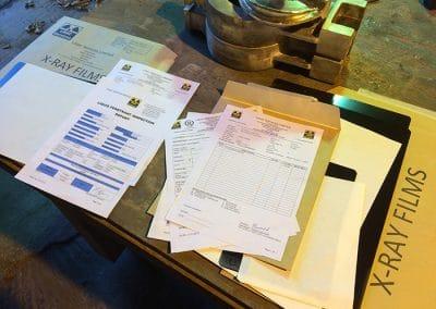 Aluminium Bronze casting NDT Test Certificates